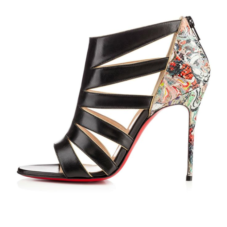 BEAUTYK MULTI,BLACK,Python,Louboutin,Women Shoes spring summer 2014