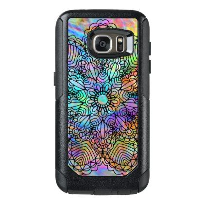 Colorful Bohemian Chic Mandala Flower Pattern OtterBox Samsung Galaxy S7 Case - chic design idea diy elegant beautiful stylish modern exclusive trendy