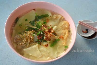 Mee Hoon Kueh 面粉果 stall in Johor Bahru at Restoran Poh Kee 宝记