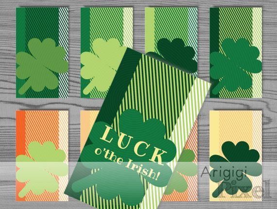 Luck O' The Irish Hang Gift Tag St.Patrick's Day by ArigigiPixel