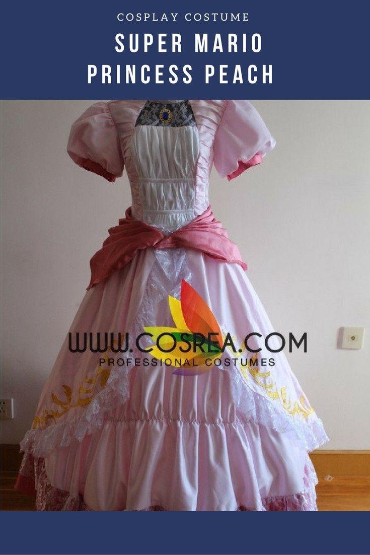 Super Mario Princess Peach Cosplay Costume