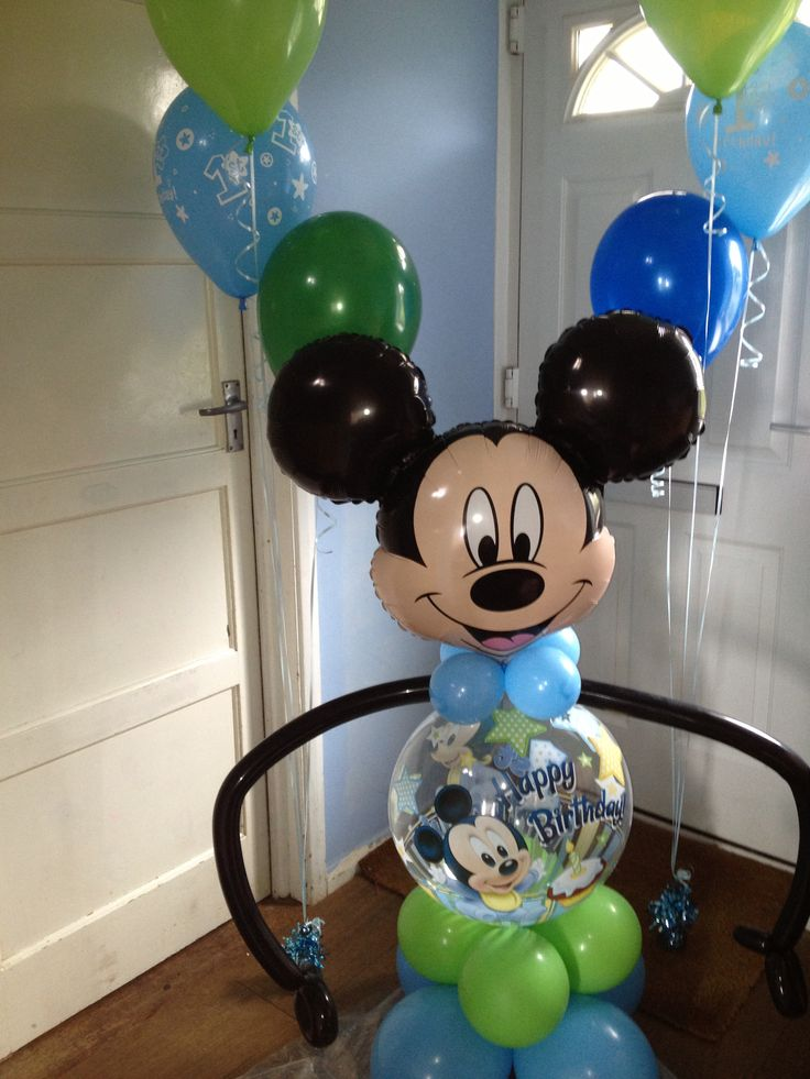 207 best boy baby shower images on pinterest boy baby for Balloon decoration for 1st birthday