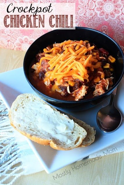 Crockpot Chicken Chili | Chicken Chili, Crockpot and Salsa