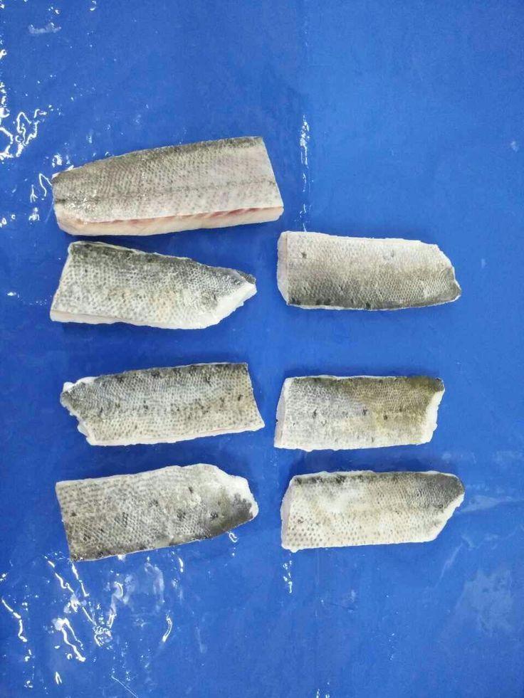 Frozen seabass loin w/ skin
