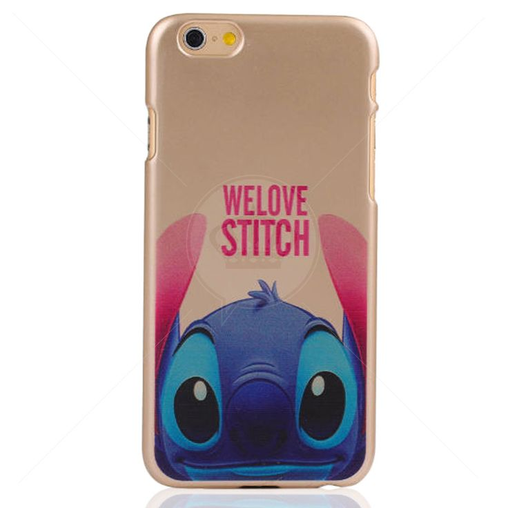 Capa Rígida Dourada Love Stitch para iPhone 6