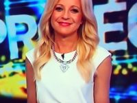 Carrie Bickmore on The Project wearing Lady Fox Star Rope Necklace