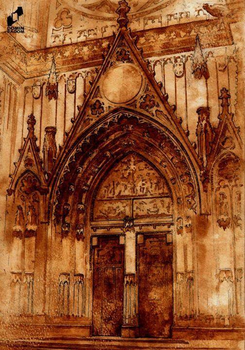 Ghotic portal made in DOMIN Radom drawing school / Portal gotycki wykonany w szokle rysunku DOMIN Radom https://www.facebook.com/DominRadom