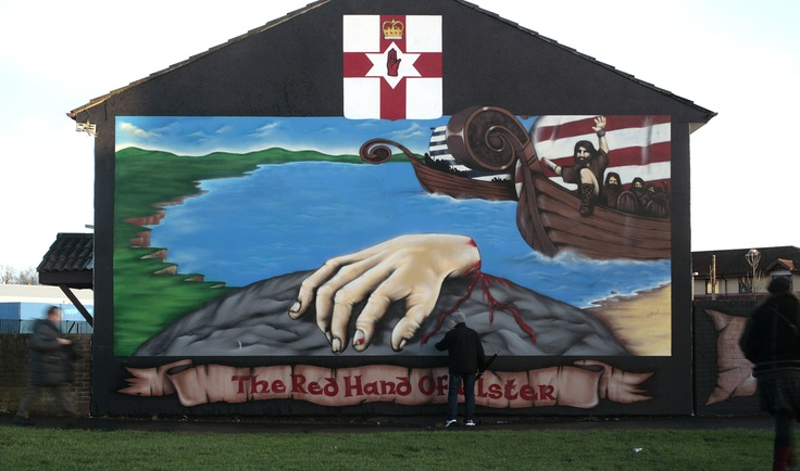 Trying to defuse the realities of paramilitary control, and in order to avoid possible derailment of the `peace process,` the UK government is alleged to be paying out large sums to the paramilitaries in order to get permission to have paramiltary-style murals replaced by those of legend or of local history. In this context, all mural art has a powerful presence, not only by virtue of size, but by position in the heart of communities.