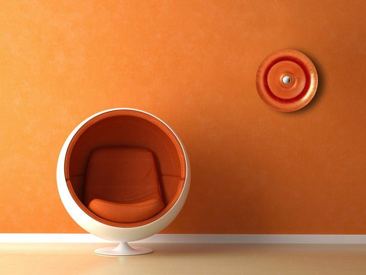 IVV lighten (Industria Vetraria Valdarnese) - Sun Applique, Orange overhead light. Elements of furnishing design developing a simple, straightforward and yet very effective concept: bringing the sun into one's home.