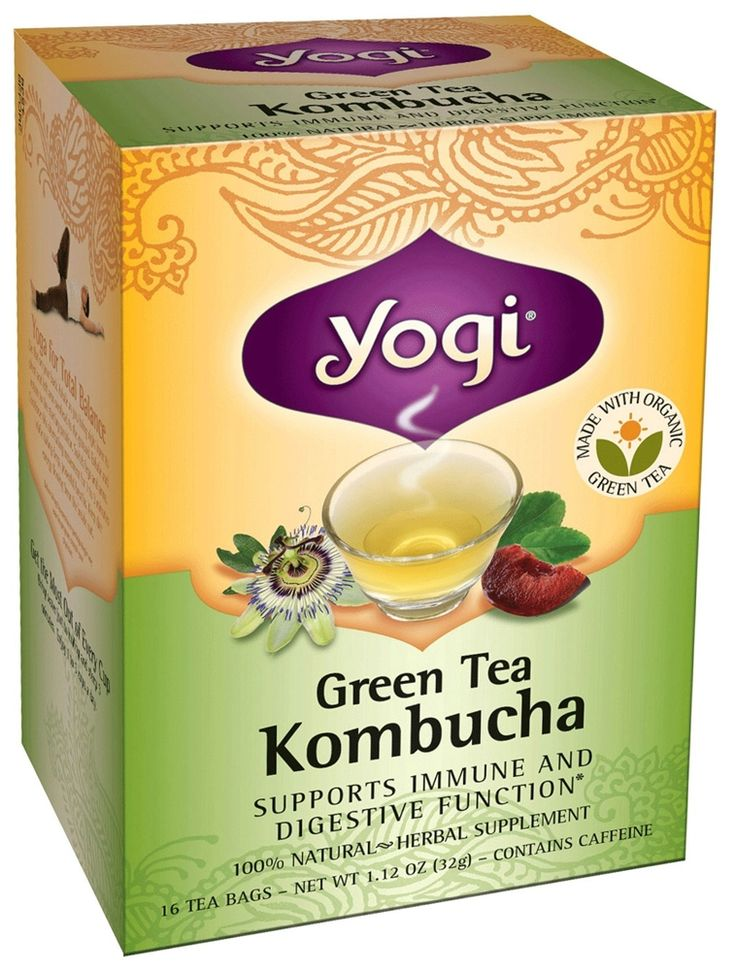 Buy Yogi Tea - Green Tea Kombucha Organic - 16 Tea Bags at LuckyVitamin.com