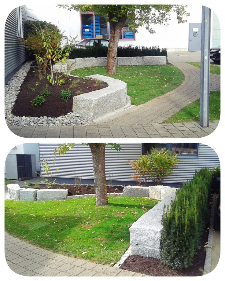 industrial site, park, seating accommodation, plants, tree, taxus media hicksii, yew hedge