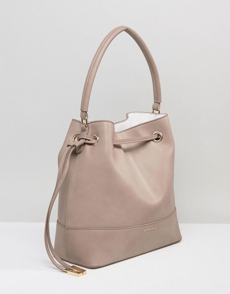 Carvela Phoebe Drawsting Bucket Bag - Beige