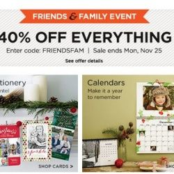 CLICK HERE for 40% off EVERYTHING! Use code FRIENDSFAM -- End Monday Nov. 25th!