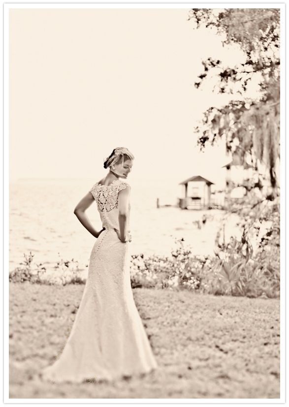 full lace back wedding dress