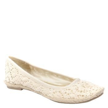 Montana Floret Cotton flats in natural by Rocket Dog