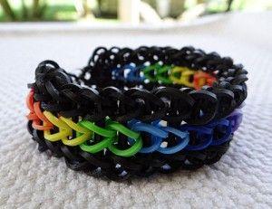 Rainbow Loom Triple Pattern. Learn how to make this rubberband bracelet free. #rainbowloom