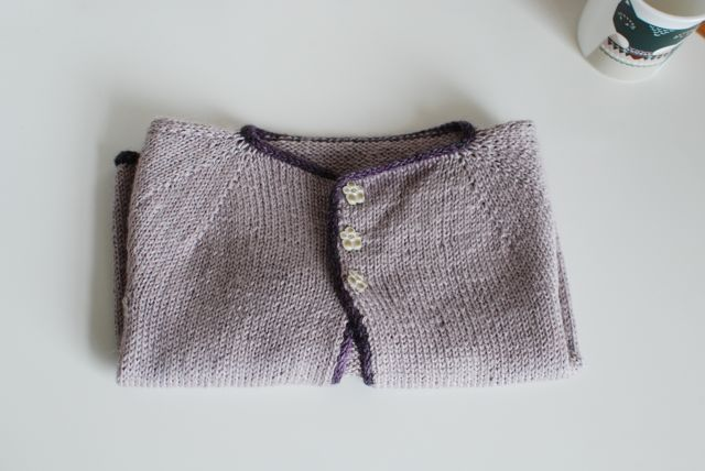 Cardigan for Katie - pattern is Eole by Nadia Crétin-Léchenne. Details here: http://www.ravelry.com/projects/TillyG/eole