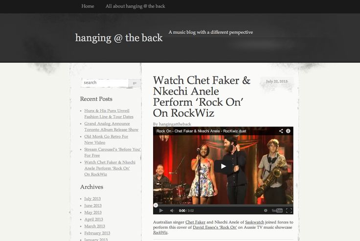 Featured on Hanging At The Back... http://hangingattheback.wordpress.com/2013/07/22/watch-chet-faker-nkechi-anele-cover-rock-on-on-rockwiz/