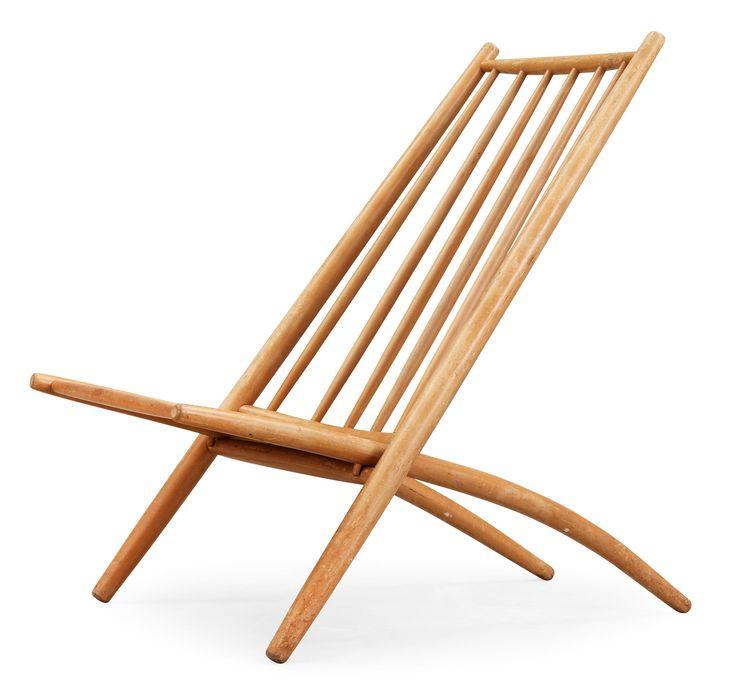 Ilmari Tapiovaara beech 'Kongo' folding chair, Asko, Finland.