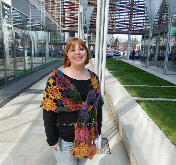 crochet scarf  thread: Alize Angora Gold  pattern from www.redheart.com/
