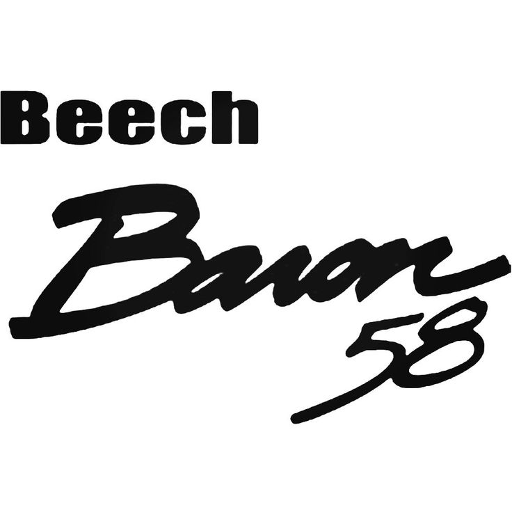 Beechcraft Baron 58 Aviation Decal Sticker  BallzBeatz . com