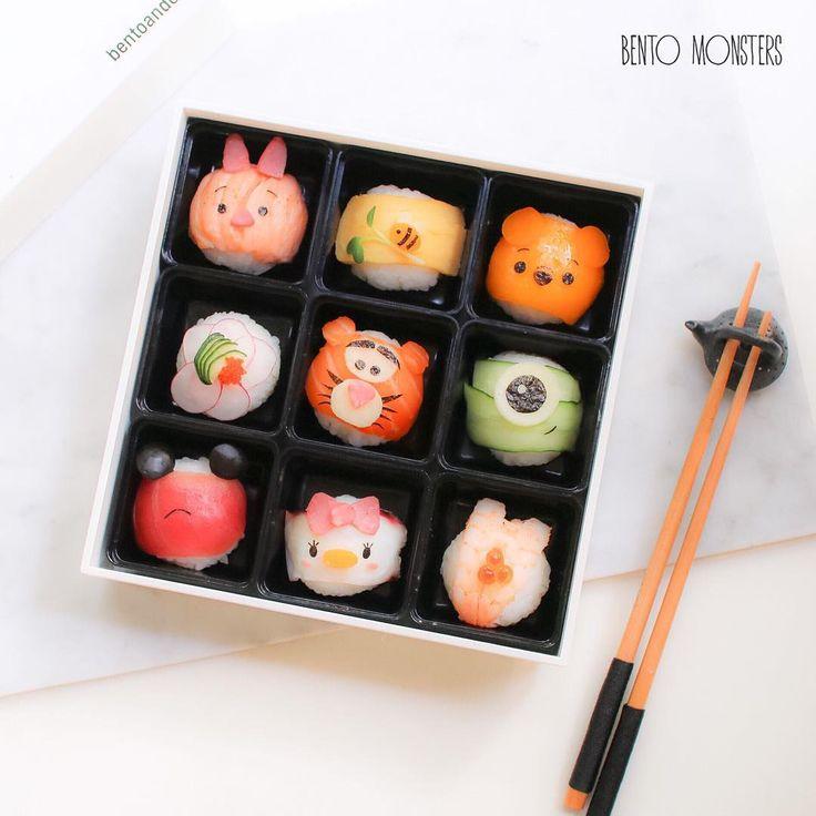 Ming #bentomonsters on Instagram: Tsum Tsum Temari sushi