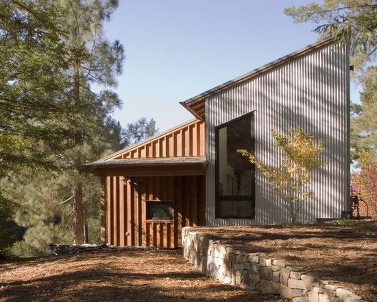 97 best images about modern exteriors on pinterest for Metal board and batten siding