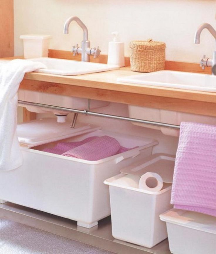 Best Creative Bathroom Storage Ideas Images On Pinterest Bath - Pink towels for small bathroom ideas