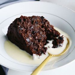 Chocolate & fruit steamed pudding
