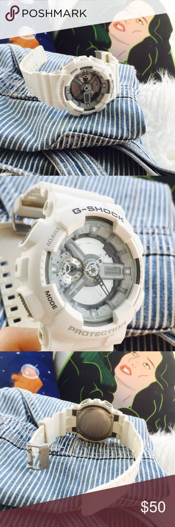 White G Shock Watch pre loved, perfect condition. super rad everyday watch! ‼️NO PP NO TRADES‼️ G-Shock Accessories Watches