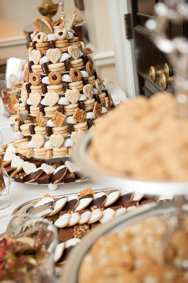 Michael's Cookie Jar Dessert Table At The Receptionstacked Like A Wedding Cake Photo
