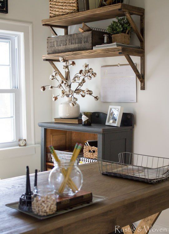 best 25 farmhouse office ideas on pinterest. Black Bedroom Furniture Sets. Home Design Ideas