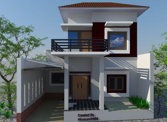 Gambar Teras dan Balkon Rumah Bertingkat