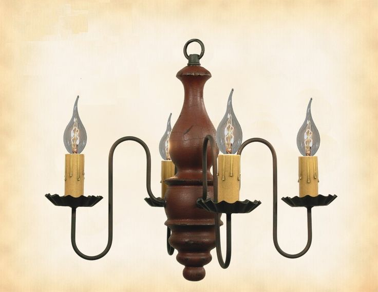 ABIGAIL  WOOD CHANDELIER   Handmade 4 Candle Colonial Light in 27  Finishes   571 best Handcrafted Country Lighting images on Pinterest  . Primitive Colonial Light Fixtures. Home Design Ideas