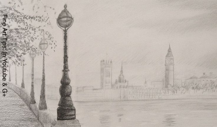 How to Draw the Big Ben - How to draw a Landscape  Watch the video:  http://youtu.be/g4wym732vnM  #art #FineArtTips #drawing #BigBen