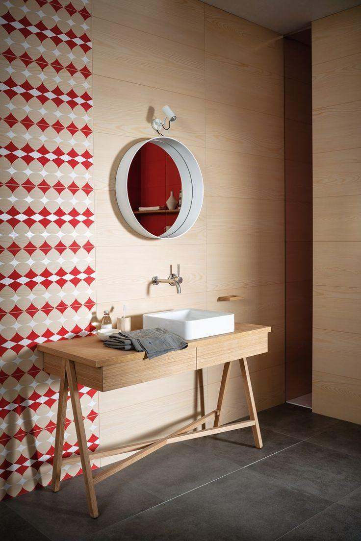 Indoor porcelain stoneware wall #tiles NORDIC WOOD Nordic Wood Collection by MARAZZI #bathroom #optical @marazzitile