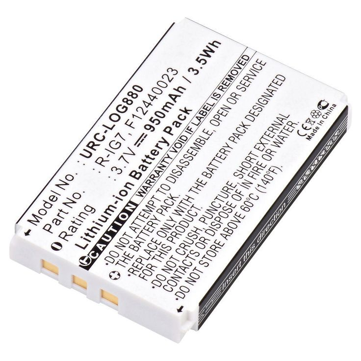 NEW LITHIUM RECHARGEABLE REPLACEMENT BATTERY FOR REMOTE CONTROL LOGITECH 880 #ULTRALAST