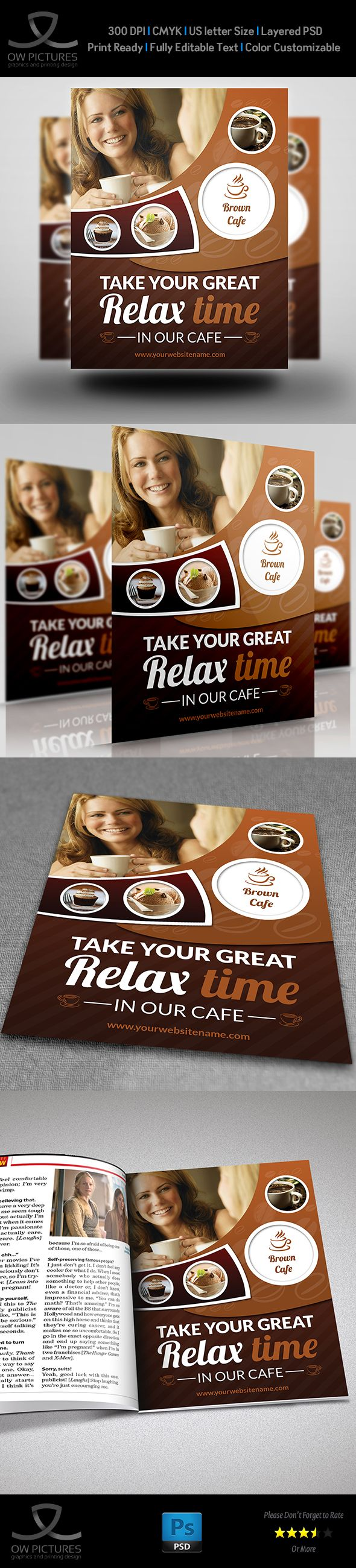 Cafe Restaurant Flyer Template Vol.3 on Behance