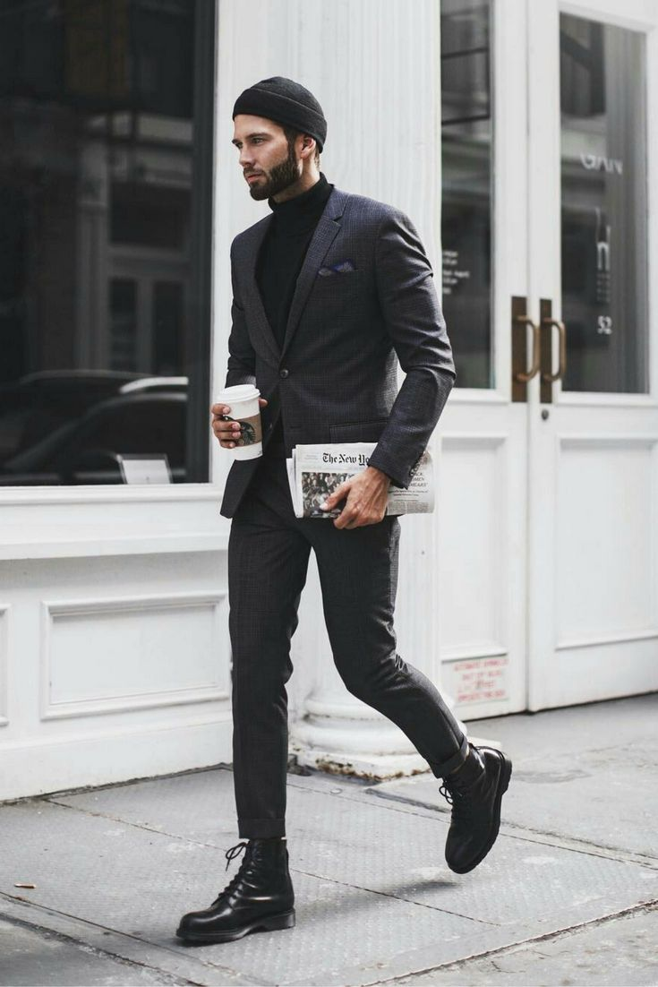 Fail-proof black on black inspirations! Follow rickysturn/mens-casual