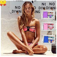 BARDDIN Cintura Baja Bikini Sólido 2016 Verano Nuevo Traje de Baño de Neopreno…