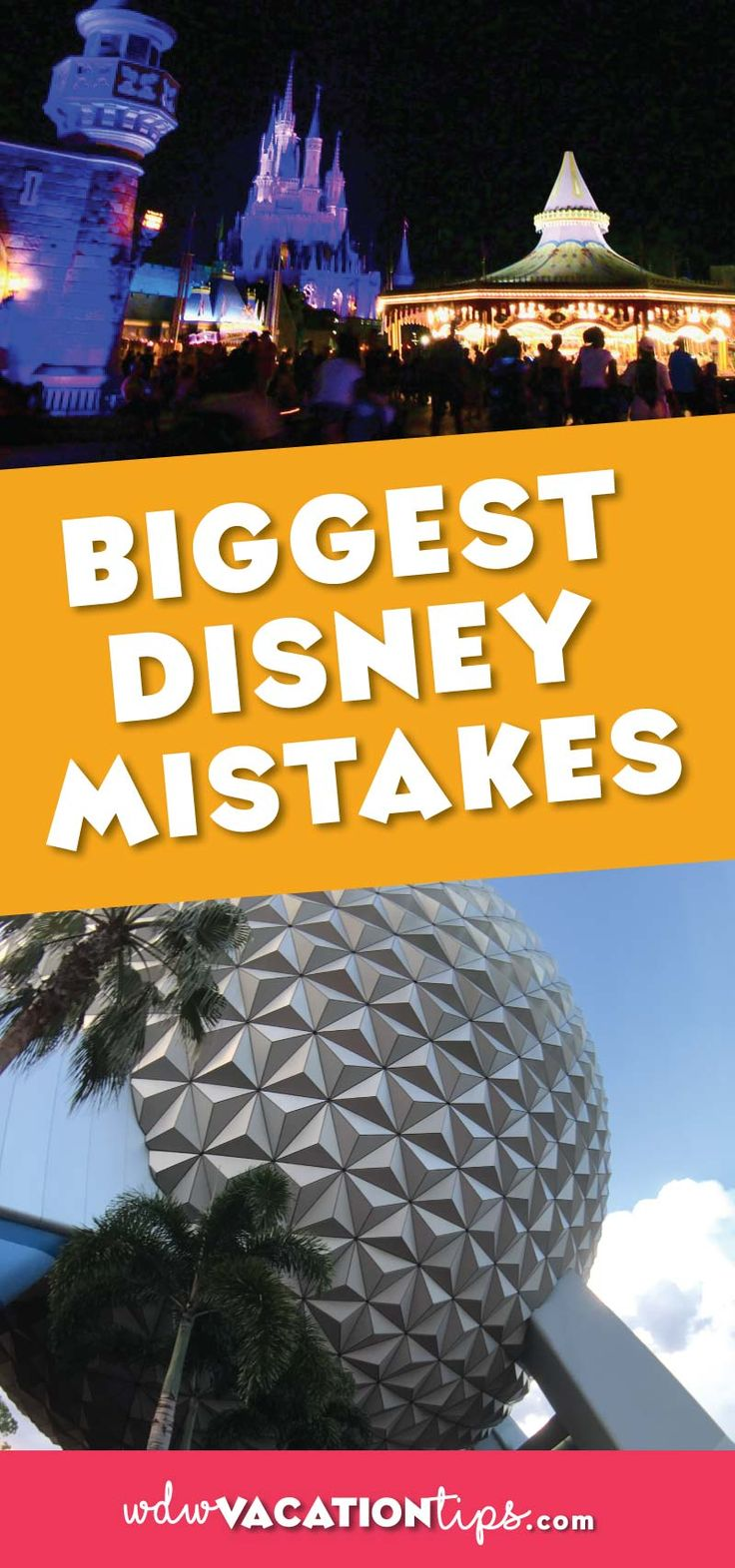 WOW great list of items of mistakes to avoid making at Disney World. Don't make these Disney vacation mistakes.