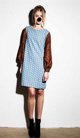 Dotted dress by Jutka en Riska www.uhmah.com
