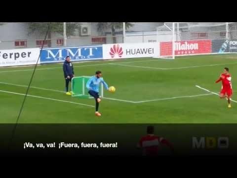 Simeone Atletico Madrid ejercicio especifico para la defensa - YouTube