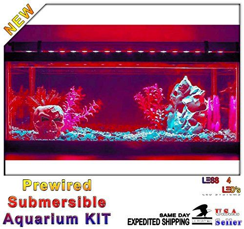 48in 4ft Silicon Aquarium Fish Tank Flexible LED Strip Light Waterproof 12V 2A Kit (Red) - http://www.petsupplyliquidators.com/48in-4ft-silicon-aquarium-fish-tank-flexible-led-strip-light-waterproof-12v-2a-kit-red/