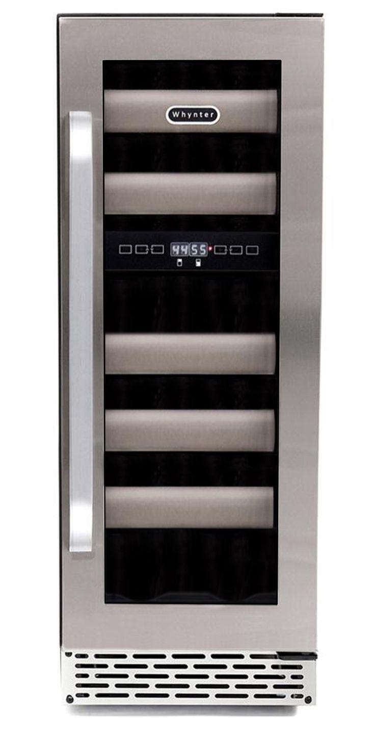 whynter bwr171ds elite 17bottle seamless stainless steel door dual zone builtin wine major appliances pinterest d stainless steel