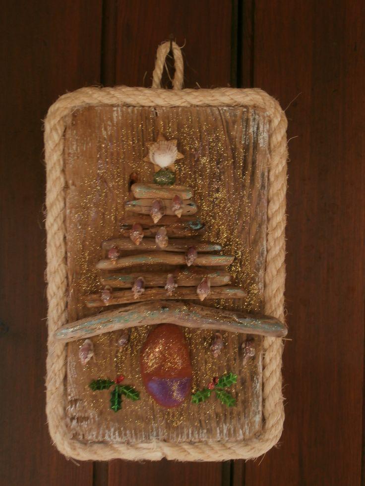 Driftwood Christmas Tree Hanging Decoration