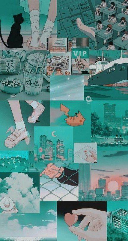 anime aesthetic iphone lockscreen retro