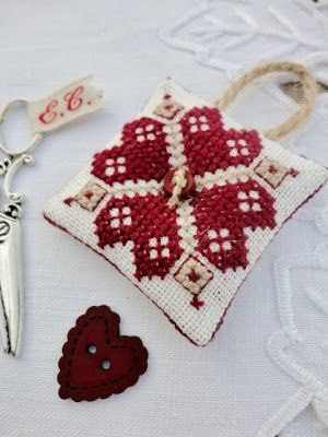 Sweet Heart Ornament  Stitches & Crosses: Letter Cottages and more