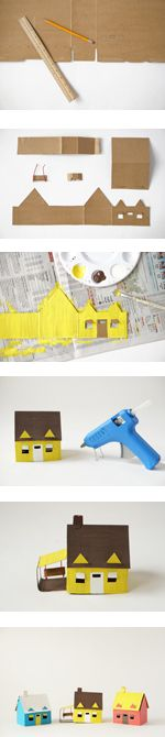 how to make a cardboard neighborhood