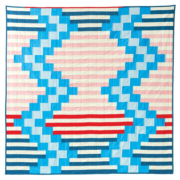 """Fun """"Wakefield"""" quilt by  Liz Harvatine of Lady Harvatine Quilts. Pattern available for $8 after jump."""